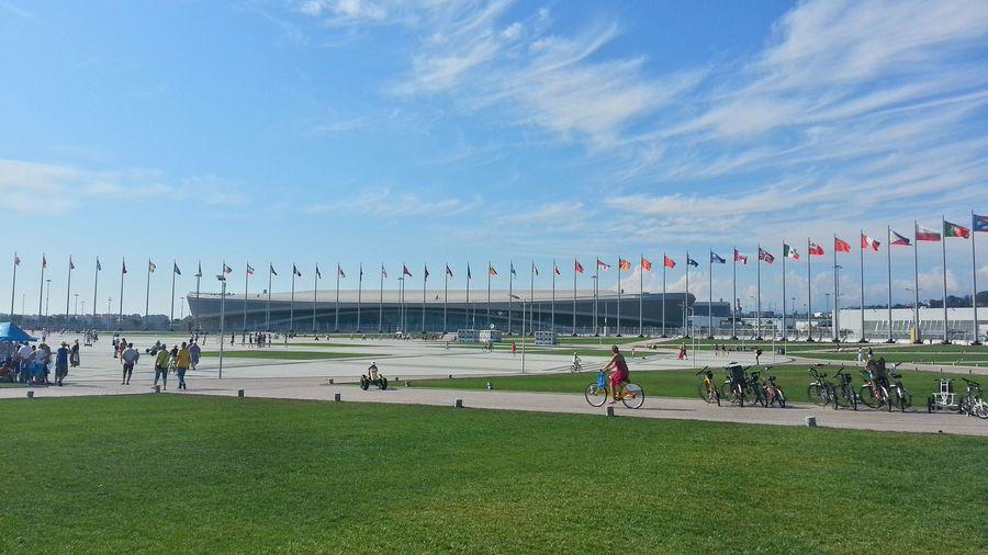 Вид олимпийского парка Сочи